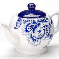 Заварочный чайник Loraine «Гжель» 930 мл с крышкой из керамики 24823