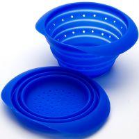 Дуршлаг синего цвета из силикона 19 см Mayer&Boch, 4432N3