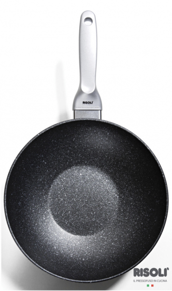 Литая сковорода ВОК Risoli Granit Induction 28 см, 0180GRIN/28H
