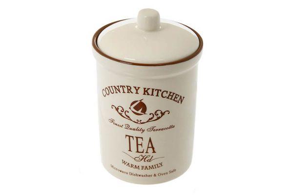 Банка для сыпучих продуктов Terracotta «Кухня в стиле Кантри» маленькая TLY301-4-CK-AL