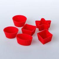 Набор форм для мини-кексов 4 см, 6 шт