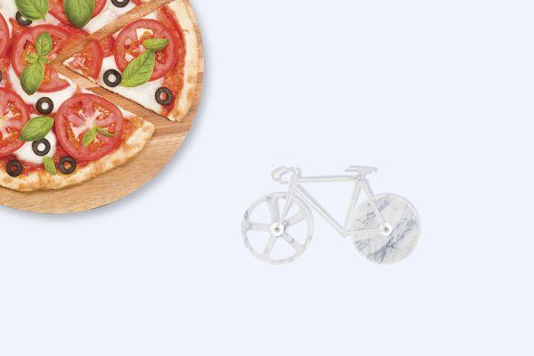Нож для пиццы The fixie из нержавеющей стали цвет белый мрамор DYFIXIEMW