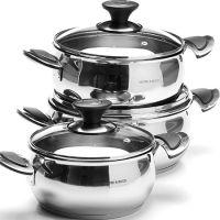Набор посуды 6 предметов с крышкой 2+2,5+3 л Mayer&Boch, 80009