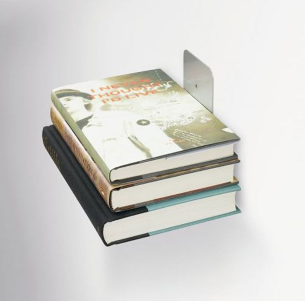 Полка книжная Conceal малая серебристая 330638-560