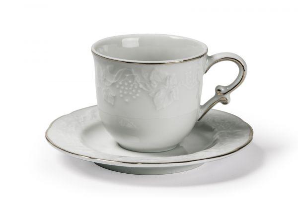Чайная пара 200 мл, La Rose des Sables, серия VENDANGE Filet Platine, 693520 0019
