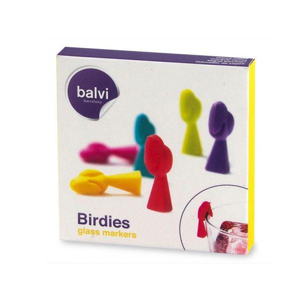 Маркеры для бокалов Birdies 6шт. 25413 Balvi
