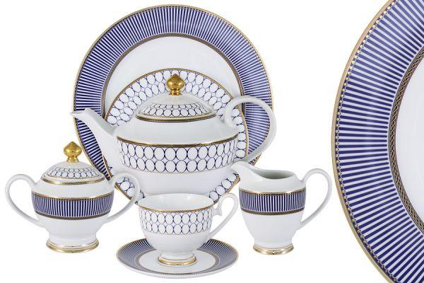 Чайный сервиз Адмиралтейский 42 предмета на 12 персон, MI2-9831-Y3_42A-AL