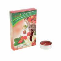 Свечи CHAMELEON «Клубника» 6 шт 1,5 см ароматизированные чайные в гильзе MNC00-10