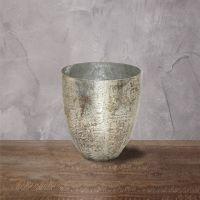 Подсвечник ROOMERS 15x13x13 см цвет античное матовое горящее серебро Ksa/5468