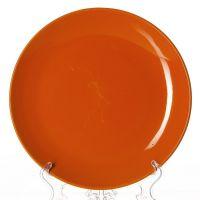 Тарелка оранжевая, диаметр 25,5 см, высота 2,6 см