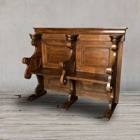 Церковная скамья 19 век Франция ROOMERS ANTIQUE, AW-FC BENCH