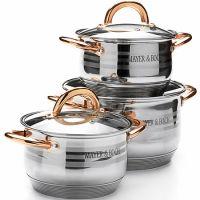 Набор посуды, ручки золотого цвета, 6 предметов Mayer&Boch, 25672