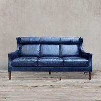 Диван ROOMERS 105x198x96 см цвет синий S0001-3D/blue B#72