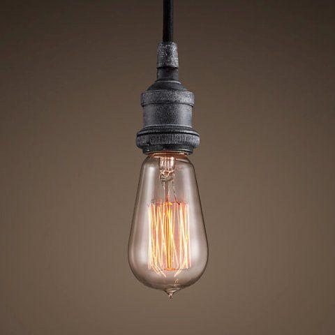 Светильник RESTORATION HARDWARE «Делюкс» 17x11 см цвет античный серый DTL9114