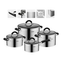 Набор наплитной посуды NADOBA OLINA 8 предметов из нержавеющей стали 726419