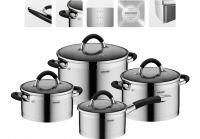 Набор наплитной посуды из нержавеющей стали, 8 пр., NADOBA, серия OLINA 726419