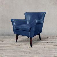Кресло ROOMERS 79x80x81 см цвет синий S0117-1D/blue #B126
