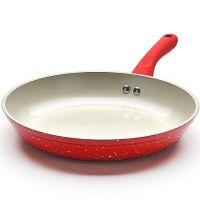Сковорода красного цвета 24 см с ручкой из силикона, и керамики Mayer&Boch, 22283N4