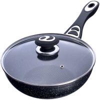 Сковорода ВОК 24 см с крышкой Mayer&Boch с покрытием из мраморной крошки, 27951