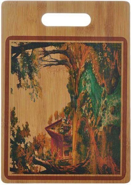 Доска кухонная бамбук с декором 35*25*1 см HANS & GRETCHEN, 28HS-3507