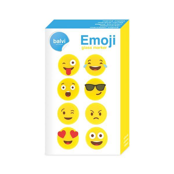 Маркеры для бокалов Emoji 8шт. 26644 Balvi