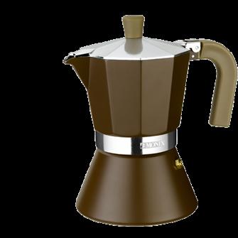 Кофеварка гейзерная на 9 чашек Monix Cream Induction