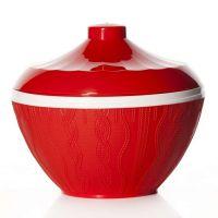 Салатник «Меланж» 1,45 л с крышкой цвет красный M6018