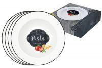 Набор из 4-х тарелок для пасты Кухня в стиле Ретро в подарочной упаковке, EL-R0819_KIBP