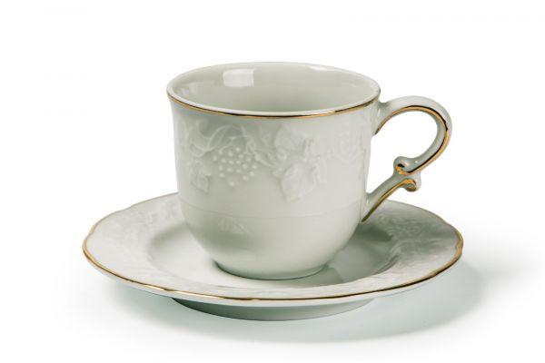 Чайная пара 200 мл, 6 шт, La Rose des Sables, серия VENDANGE Filet Or, 693520 1009