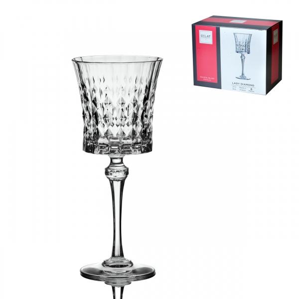 Набор фужеров (бокалов) для вина ЛЕДИ ДАЙМОНД 270 мл 6шт