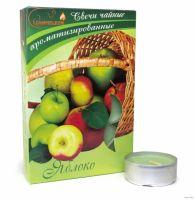 Свечи CHAMELEON «Яблоко» 6 шт 1,5 см ароматизированные чайные в гильзе MNC00-09