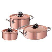 Набор посуды 3 предмета: кастрюля 3,5 л, ковш 1,6 л, сотейник 5 л, серия Opus Cupra, RUFFONI