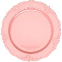 """Тарелка """"Винтаж"""" 23 см розовая, 10 шт Mayer&Boch, 14187"""