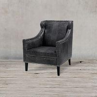 Кресло ROOMERS 90x74x83 см C0175-1D/black #B76