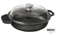 Литой сотейник с крышкой Risoli HardStone Granit Induction 24 см, 0199GRIN/24H
