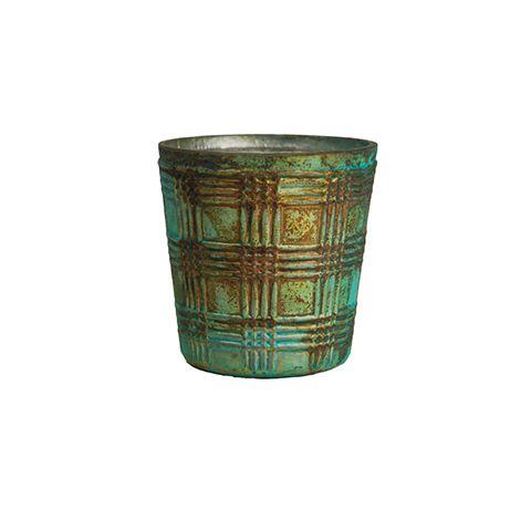 Подсвечник RESTORATION HARDWARE 7x8x8 см античный зеленый цвет MAK 1721