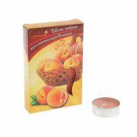 Свечи CHAMELEON «Персик» 6 шт 1,5 см ароматизированные чайные в гильзе MNC00-18