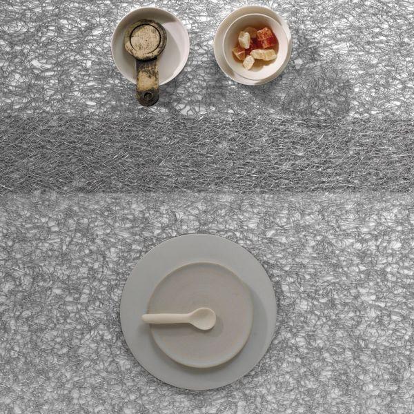 Салфетка Chilewich METALLIC LACE подстановочная жаккардовое плетение материал винил 36x48 см Silver 0209-MTLC-SILV