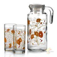 Набор для напитков Pasabahce SERENADE кувшин и 4 стакана цвет оранжевый 95895BD1