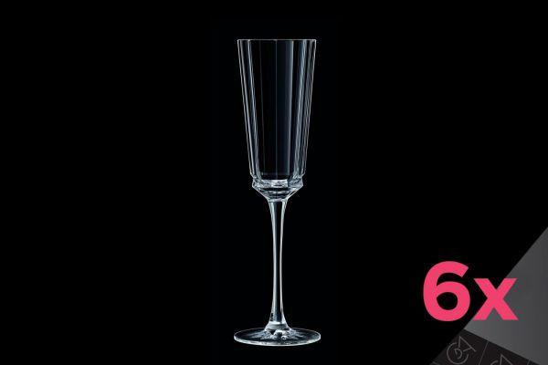 Набор бокалов для шампанского 170 мл CRISTAL D'ARQUES MACASSAR 6 шт, L6588