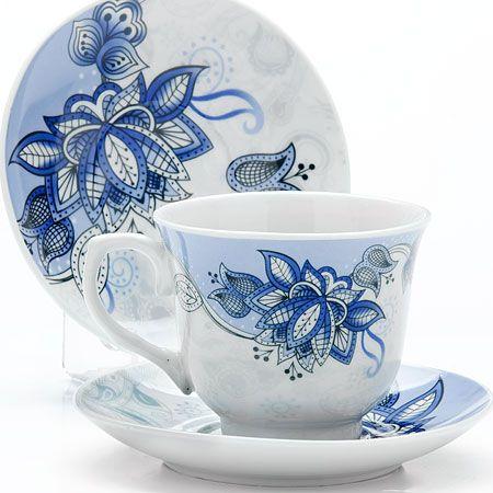 Чайный набор 1220 мл фарфоровый Lorain, 25786