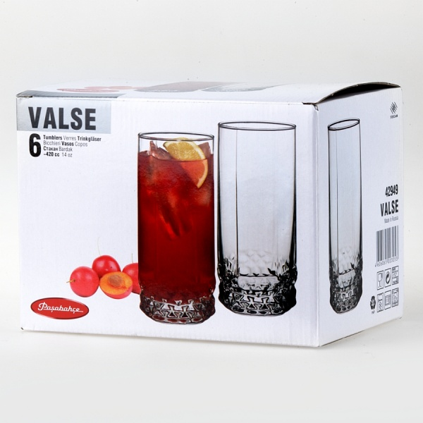 Набор стаканов VALSE 6 шт.V=420 мл (пиво)