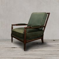 Кресло Сезар ROOMERS, C0211-1D/green AR108-41