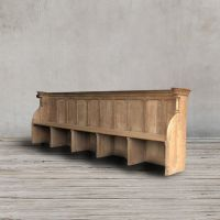 Церковная скамья 19 век Франция ROOMERS ANTIQUE, AW-CHURCH BENCH