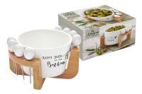 Набор для закуски: чаша д/оливок + 8 шпажек на подставке Kitchen Elements в подарочной упаковке, EL-R0850_KITE