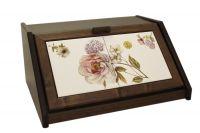 Деревянная хлебница с керамическими вставками Сады Флоренции, LCS994-BO-AL