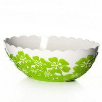 Салатник «Камелия» овальный 1,3 л цвет зеленый M2517