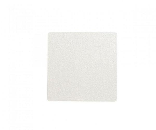 Подстаканник LIND DNA квадратный 10x10 см, толщина 2 мм BULL white, 98355