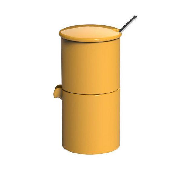 Набор LOVERAMICS сахарница, молочник и ложечка цвет желтый C098-51AYE