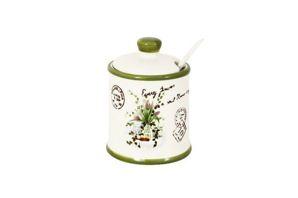 Сахарница Anna Lafarg LF Ceramics «Букет» AL-165F6290-S-B-LF